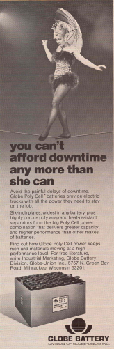 Globe Poly Cell Battery Ad