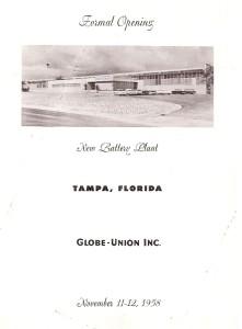 Globe Tampa Plant 1958