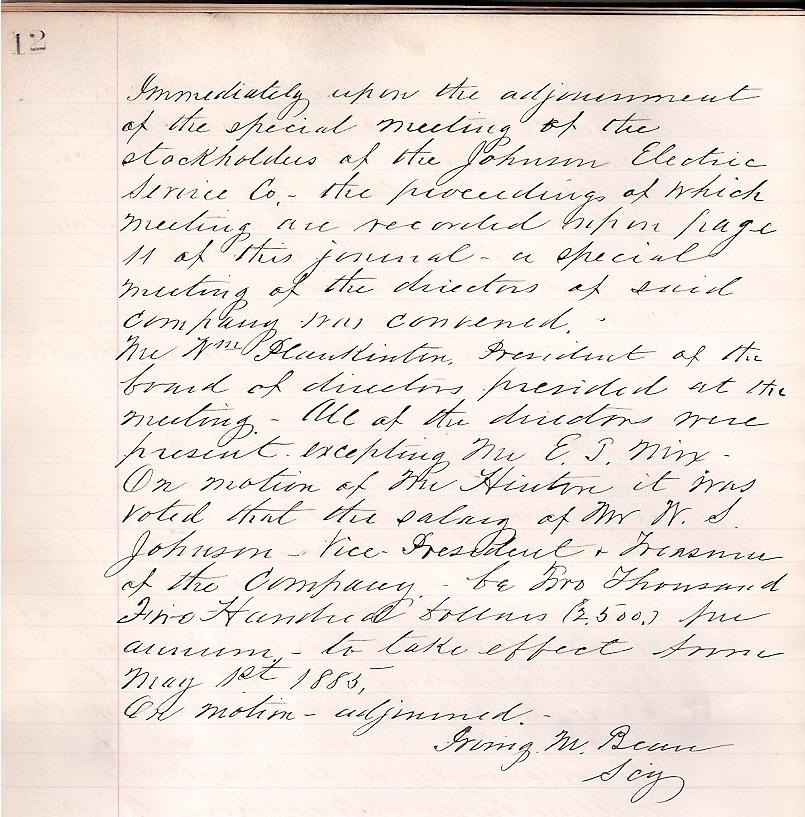 Warrens Salary 1885