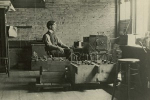 Wireless Lab abt 1910/ Maybe Paul or Carl Johnson